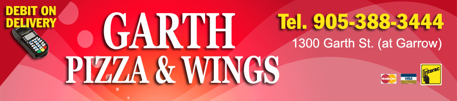 Garth Pizza and Wings - Pizza for delivery in Hamilton
